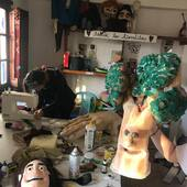 Una tarde de taller, una encina en primavera🌜🌛 #marionetas #titeres #art #artist #artistsoninstagram #artwork #arte #artesanal #quedateencasa #puppet #puppiesofinstagram