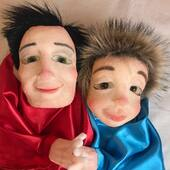 Padre e hijo, titeres gestuales  #puppets #marionetas #titeres #gestuales