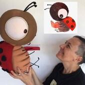 mariquita didáctica🐞 - #livingpuppets #titeres #marionetas #art #arte #artesania #me #love #ferias #muñecas #animales #teatro #biodegradable #gestuales #cabezones #carnaval #españa #argentina #artesano #jugetes #online #instagood #petlovers #inspiration