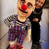 Clown réplica en titeres de 70cm con mov de boca y articulaciones #payaso #clown #puppetshow #marioneta #titere