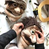 Quijote y Sancho en  elaboración para la compañía Los Bichos de Luz  #donquijote #sanchopanza #puppetshop #marionetas