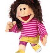 Finja otro de nuestro personajes de 65cm con mov de boca y guantes en sus manos #livingpuppets #finja #ventrilocuos #marionetas