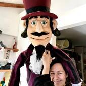 ConsumismoEgoismo, personaje obra de concienciación de@la@madre@tierra #puppetmaking #marionetas