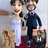 Replicas de Novios en su Boda!, 👰♀️🤵🏻marionetas de mesa con movimiento de boca #marionetarium #novios #puppets #puppetshow #titeres