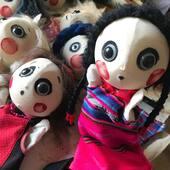 Marotes en preparativos para las Ferias de Navidad 20/21 #titeres #marionetas #titeresdeguante #titeresdemano