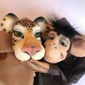 Hoy somos amigos!!!, titeres Gestuales en Armonia. #tigre #mono #gestuales #titeres #marionetas