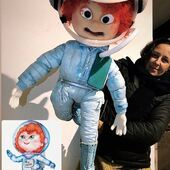 Clementa astronauta, marioneta personalizada con movimiento de boca y articulaciones #Astronauta #Marioneta #Puppet #puppetastronaut
