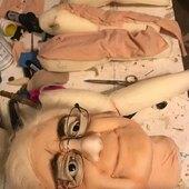 Mesa de trabajo, replica de una Abuela muy especial 👵🏼👵🏼 #grandmother #abuela #puppets #marionetadeabuela