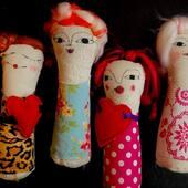 Niñas Amor - Tottems , titeres de dedo #titeresdededo #marionetas #titeres #puppets #pupetshow #me #art #artesanato #españa #argentina