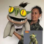 NotEnrique Trollhunters, replica en marioneta con movimiento de boca #notenrique #trollhunters #puppets #marionetas