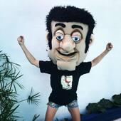 Cabezudo ultra ligero ajustable con movimiento de boca  #cabezudos #gigantes #puppets #marionetas