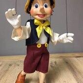 Pinoccio Vintage, Marioneta de 4 hilo y vástago central metálico para el giro de cabeza #marionetas #pinocho #pinocchio #marionettes #ricimarionettes