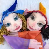 Hermanas Hadas, marionetas gestuales  #marionetas #titeres #puppets #hada #duendas