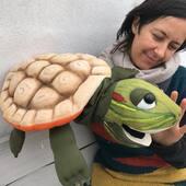 Tortuga Californiana 🐢🐢, llegó !!!sin prisa ni pausa. #tortuga #puppets #marionetadetortuda #titeres