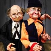 Abuelos inseparables❣️ marionetas de  9 hilo en madera y resina  #marionetas #abuelos #ricimarionettes #amor
