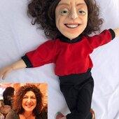 Catia La Tana, replica con movimiento de boca, de 65cm #marioneta #puppet #replica #marionetapersonalizada